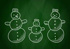 Zeichnung der Schneemänner Lizenzfreies Stockbild
