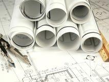 Zeichnung des Architekten Lizenzfreies Stockbild