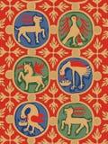 Zeichnung des Chillon Hintergrundes, Vektor Stockfoto