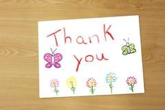 Zeichnung des Dankes des Lehrers Stockbild