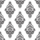 Zeichnung des ethnischen Musters mit hamsa Lizenzfreie Stockbilder