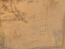 Zeichnung des Flugzeugs Stockbild
