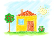 Zeichnung des Hauses Stockfotografie