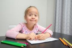 Zeichnung des jungen Mädchens Lizenzfreie Stockbilder