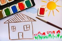 Zeichnung des Kindes Stockfotos