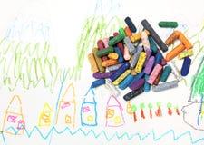 Zeichnung des Kindes Stockbild