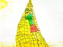 Zeichnung des Kindes Stockfotografie