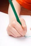 Zeichnung des Kindes Hand Stockbilder
