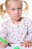 Zeichnung des kleinen Kindes Stockbild