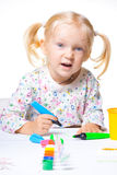 Zeichnung des kleinen Kindes Lizenzfreie Stockfotografie