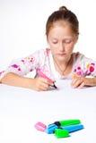 Zeichnung des kleinen Kindes Lizenzfreie Stockbilder