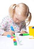 Zeichnung des kleinen Kindes Stockbilder