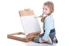 Zeichnung des kleinen Mädchens Stockbilder