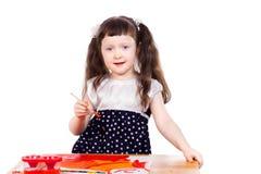 Zeichnung des kleinen Mädchens Stockfotografie