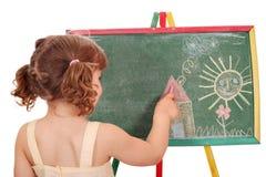 Zeichnung des kleinen Mädchens Stockfoto