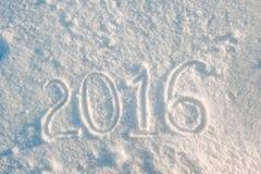 Zeichnung 2016 des neuen Jahres Lizenzfreie Stockfotografie