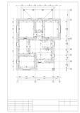 Zeichnung des Planes des zweiten Stocks private 2 breiten Häuser aus Lizenzfreie Stockfotos