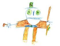 Zeichnung des ursprünglichen Kindes des Halloweenbugaboo stock abbildung