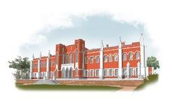 Zeichnung eines klassischen Gebäudes Lizenzfreies Stockbild