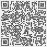 Zeichnung eines qr Codes Stockbild