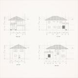 Zeichnung Haus mit 4 Aufzügen Lizenzfreie Stockfotografie