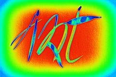Zeichnung, Kalligraphie in den Bildern von kleinen Leuten Stockbilder