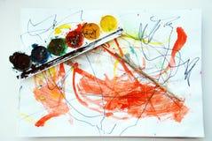 Zeichnung meines Sohns Lizenzfreie Stockbilder