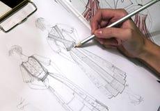 Zeichnung, Skizze auf Papier Lizenzfreies Stockbild