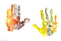 Zeichnung von children& x27; s-Palmen lizenzfreie stockfotografie