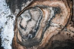 Zeichnung von salzigen Mineralien auf einer Wand Lizenzfreies Stockbild