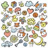 Zeichnungen in der Art der Kinder stock abbildung