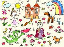 Zeichnungen der Kinder Lizenzfreies Stockbild