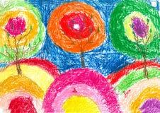 Zeichnungen der Kinder Stockbilder