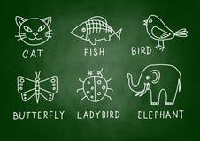 Zeichnungen von Tieren lizenzfreie abbildung
