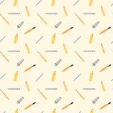 Zeichnungs-Instrument-nahtloses Muster Stockbilder
