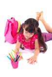 Zeichnungs-Mädchen Lizenzfreies Stockbild