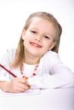 Zeichnungs-Schulmädchen Lizenzfreies Stockbild
