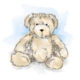 Zeichnungs-Teddybär lizenzfreie abbildung