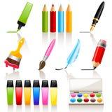 Zeichnungs- und Anstrichhilfsmittel Lizenzfreie Stockbilder