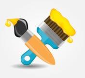 Zeichnungs- und Schreibenswerkzeugikonen-Vektorillustration Lizenzfreie Stockfotos