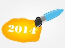 Zeichnungs- und Schreibenswerkzeugikonen-Vektorillustration Lizenzfreies Stockfoto