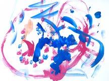 Zeichnungs-Wasserfarbenlacke der Kinder stockbilder