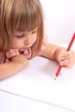 Zeichnungsabbildungen des kleinen Mädchens Stockfotos