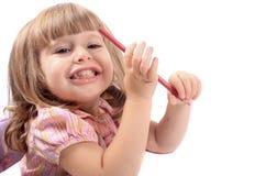 Zeichnungsabbildungen des kleinen Mädchens Stockbild