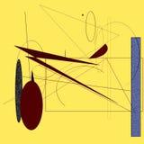 Zeichnungsauflage mit Formen Stockfotografie