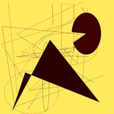Zeichnungsauflage mit Formen Stockbilder