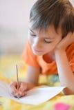 Zeichnungsbild des kleinen Jungen Stockfoto
