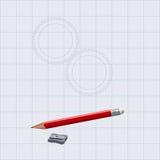 Zeichnungsbleistift mit Bleistiftspitzer Lizenzfreie Stockfotos