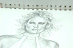 Zeichnungsbuch Stockbild