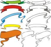 Zeichnungsfahnen Lizenzfreie Stockbilder